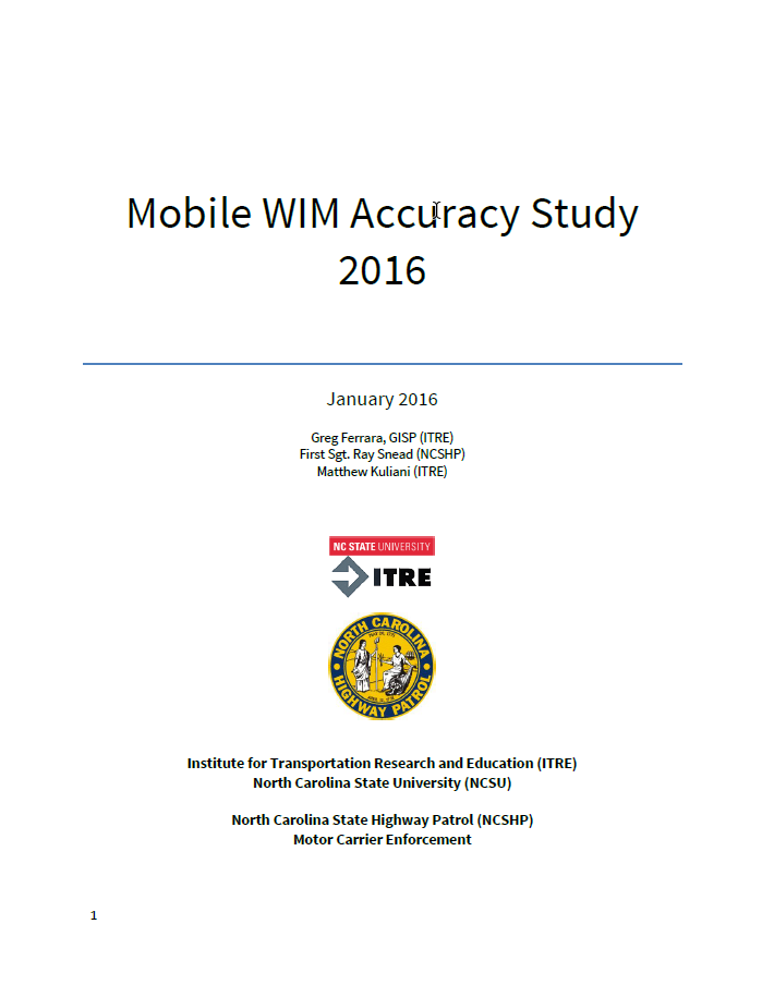 "Update to 2015 study examining measurable differences between of Mobile ""Weigh-in-Motion"" scale to permanent fixed scale"